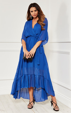Cobalt Blue Plunge Maxi Dress by Bella and Blue Product photo