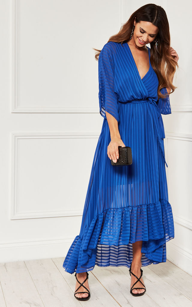 Cobalt Blue Plunge Maxi Dress by Bella and Blue