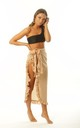 Nude Frill Beach Sarong with waist tie by Get Styled UK