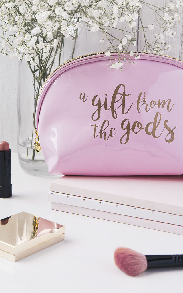 71cfc8f381 Slogan Pink Make-up Bag by A Gift From The Gods