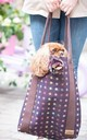 Hettie Tote bag in Wine and Multicolour Polka Dots by Hettie