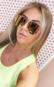 Reflective aviator Sunglasses by Miss Mills