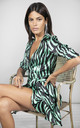 MARLEY DRESS IN Green Zebra by Dancing Leopard