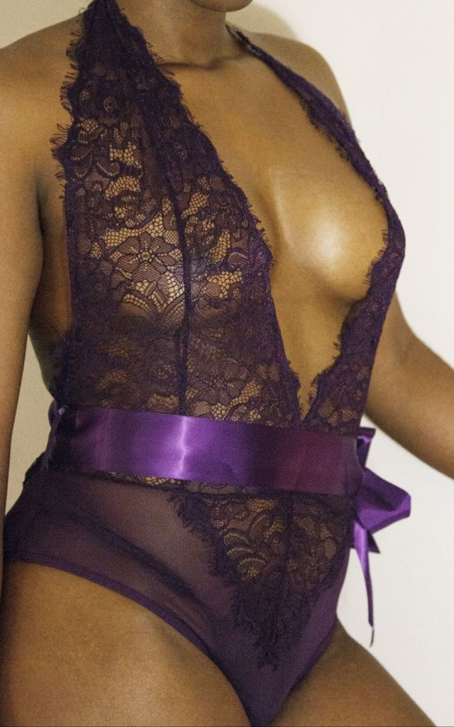 Hypnotize One Piece Bodysuit in Purple by Séduire Lingerie