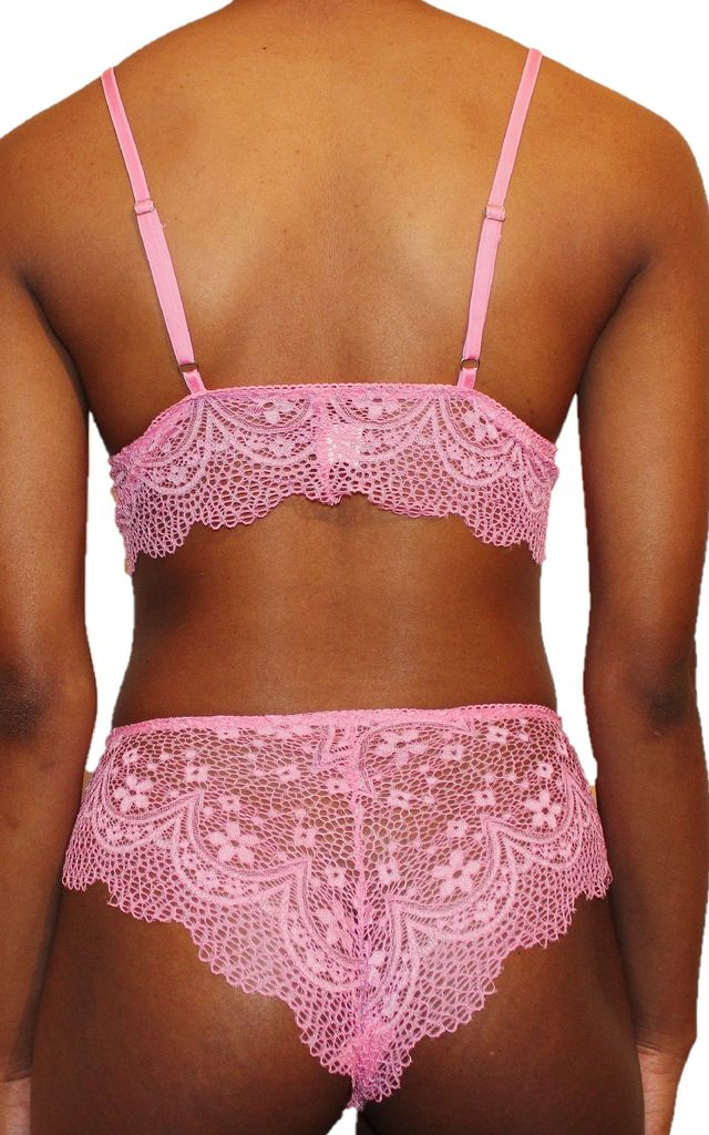 Tie Me Lace Briefs in Pink by Séduire Lingerie