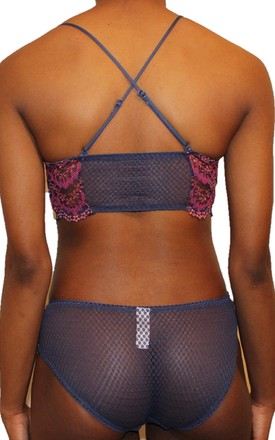 Nefertiti Front Closure Bra (Blue/Pink) by Séduire Lingerie