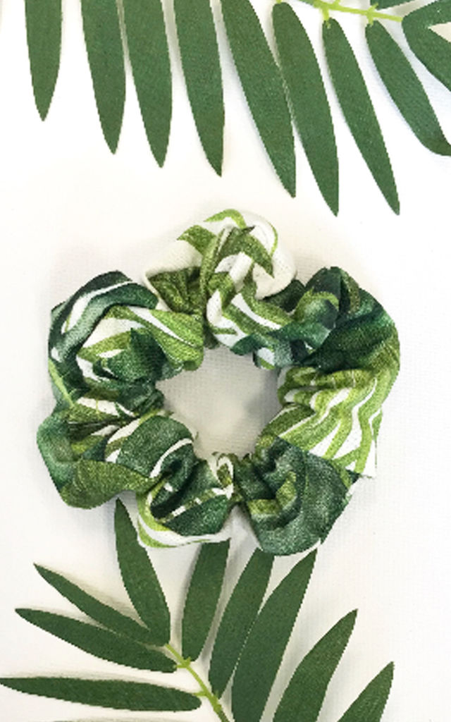 Tropical palm tree scrunchie by LULU IN THE SKY