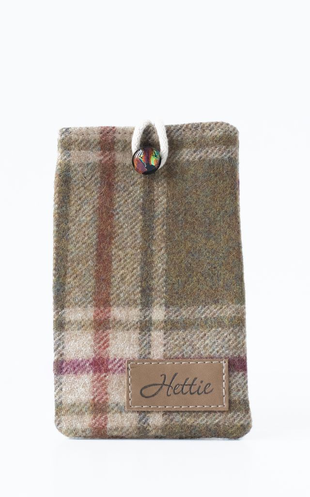 Wool Phone Case in Arncliffe Moonstone Check Print by Hettie