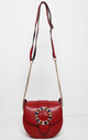Jewelled Buckle Saddle Bag in Red by WANTD
