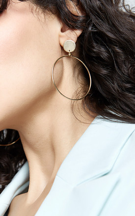 CLAY Large Delicate Circle Gold Hoop Earrings by THE SF STORE