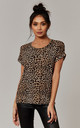 Round Neck Tee In Leopard Print by ONLY