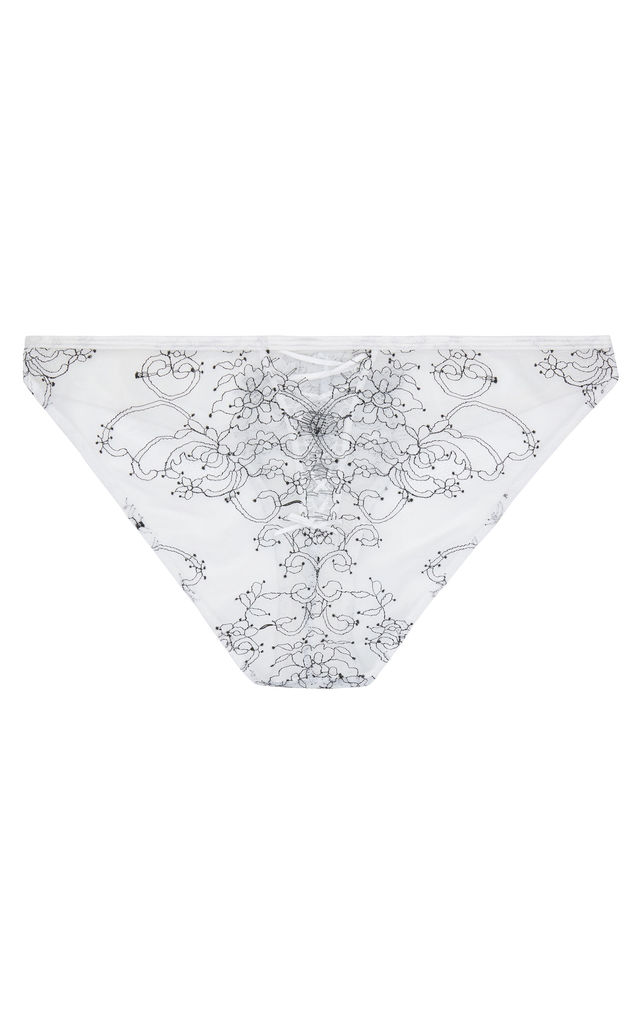 Charlotte McKinney Brooke Chord Detail Brief in White by Wolf & Whistle