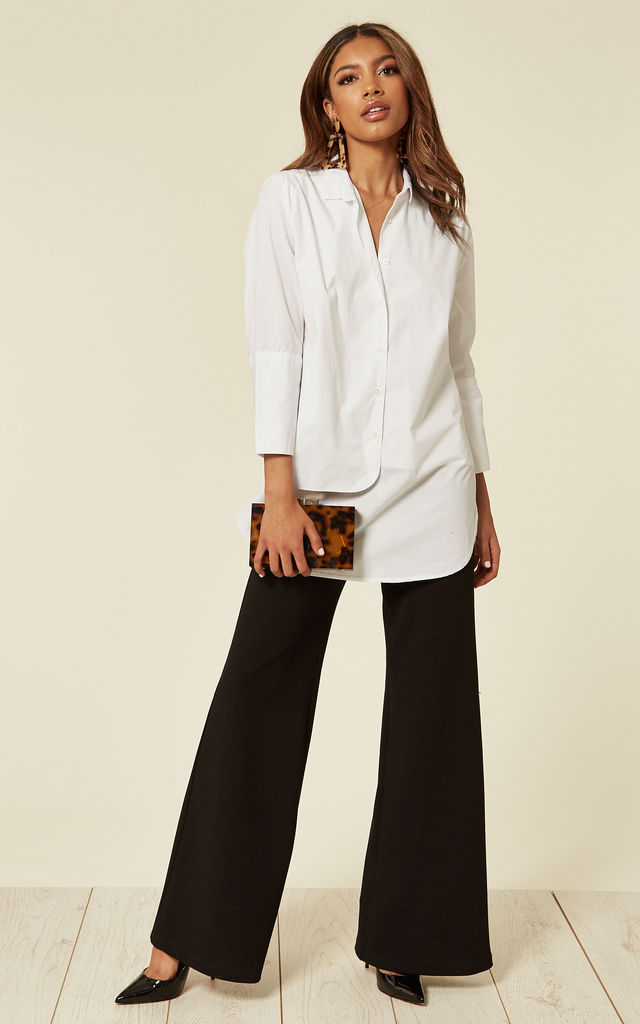 Relaxed Fit Panel Shirt in White by Till We Cover
