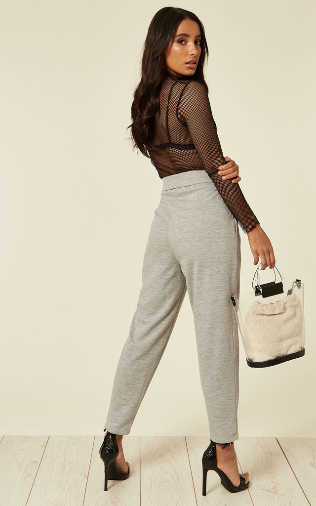 Cropped Jogging Bottoms In Grey by Till We Cover