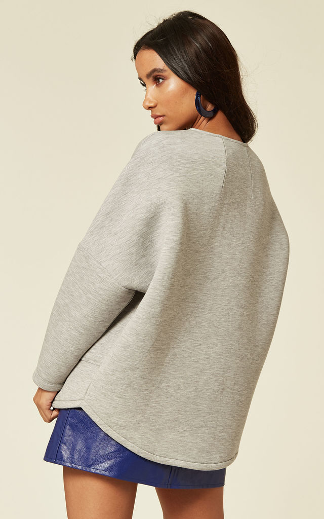 Cocoon Scuba Jacket in Grey by Till We Cover