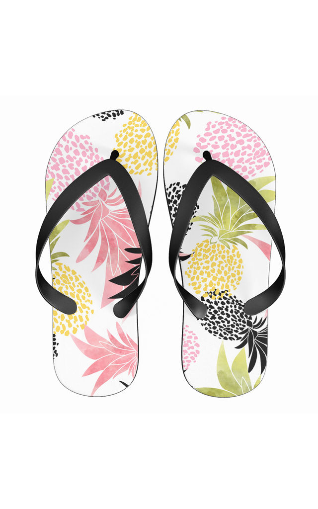 Flip Flops in Multicolour Pineapple Print by Art Wow