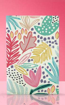 Passport Holder in Bright Tropical Floral Print by Art Wow