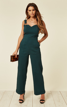 Lelani Green Wide Leg Jumpsuit by Voodoo Vixen