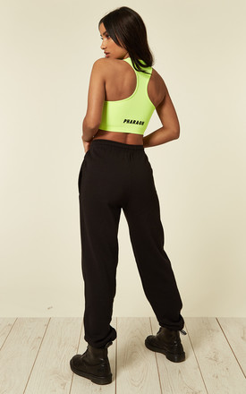 Ultimate black jogging bottoms by Pharaoh London