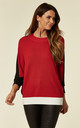 Red Batwing Knitted Top by Lucy Sparks