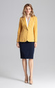 Blazer jacket in yellow by FIGL