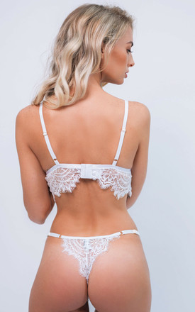 Alicia Lace Lingerie Intimates Set in White by IVYSISTER