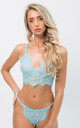Alicia Lingerie Intimates Set in Blue Lace by IVYSISTER
