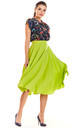 Flare Midi Skirt in Green by AWAMA