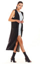 Loose Maxi Vest with Pockets in Black by AWAMA