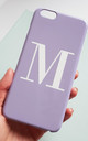 Pastel Purple Alphabet Phone Case by Rianna Phillips