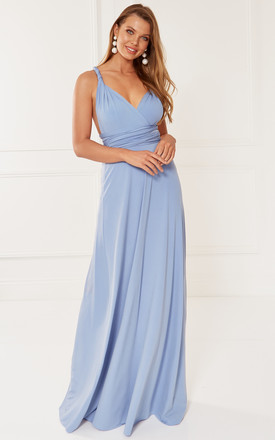 Exclusive Alexis Blue Multi Way Maxi Bridesmaid Dress by Revie London Product photo
