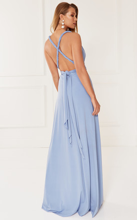 EXCLUSIVE Alexis Blue Multi Way Maxi Bridesmaid Dress by Revie London