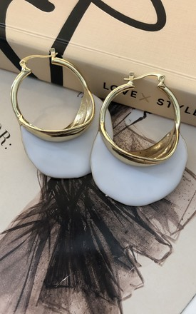 Rosa Gold hoop Earrings by It's Me Not You
