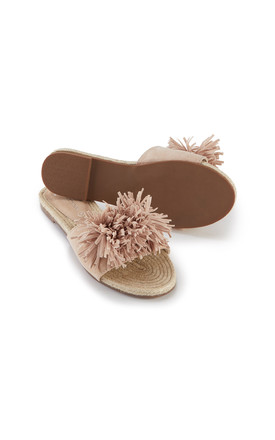 Tassel Sandals in Nude by Pretty You London