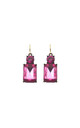 Simple Gem Drop Earring in Hot Pink by LAST TRUE ANGEL