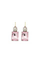 Simple Gem Drop Earring in Pale Pink with Clear by LAST TRUE ANGEL