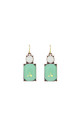 Simple Gem Drop Earring in Mint & White by LAST TRUE ANGEL