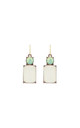 Simple Gem Drop Earring in White & Mint by LAST TRUE ANGEL