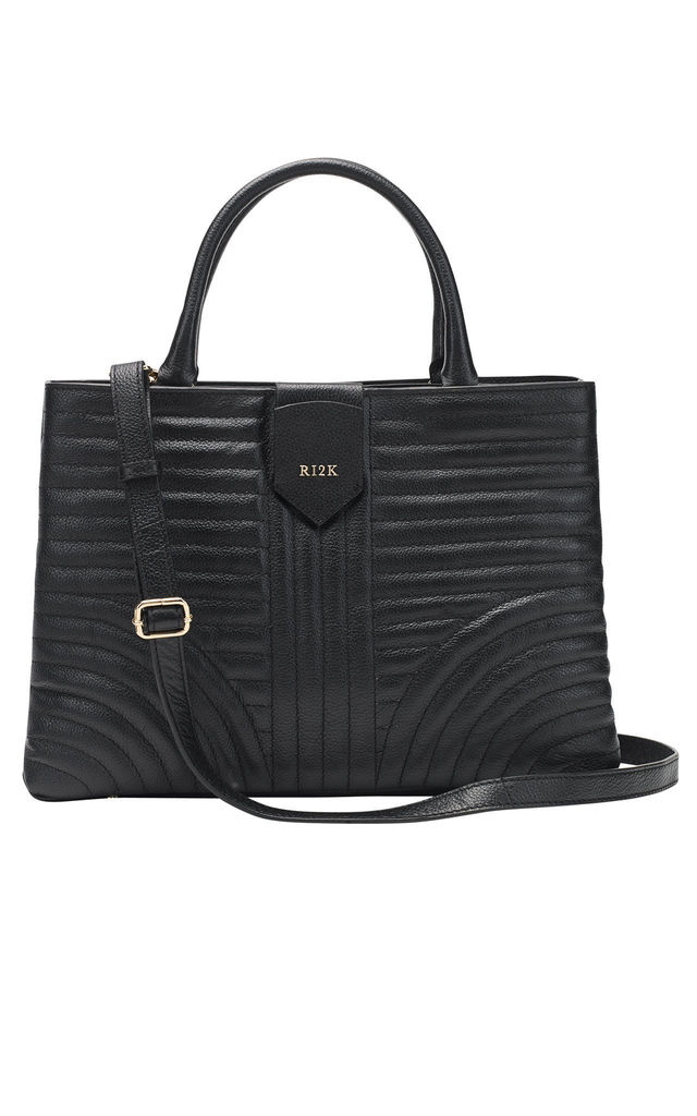 Quilted Tote Bag in Black by RI2K London