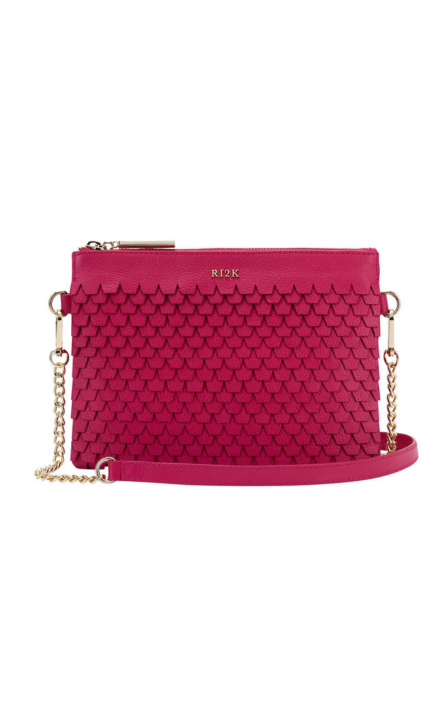 Evelyn Crossbody Bag in Pink by RI2K London