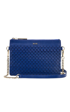 Evelyn Crossbody Bag in Blue by RI2K London
