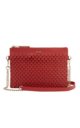 Evelyn Crossbody Bag in Red by RI2K London