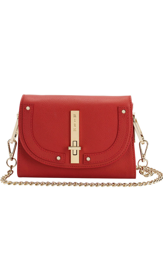 Gaby Crossbody Bag in Red by RI2K London