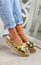 Yellow Slingback Espadrille Sandals by Larena Fashion