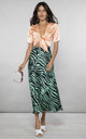 RENZO SKIRT IN GREEN ZEBRA by Dancing Leopard