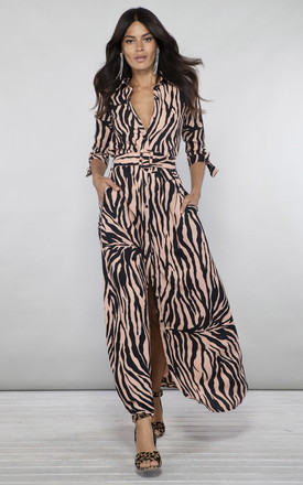 Dove Dress In Blush Zebra by Dancing Leopard Product photo