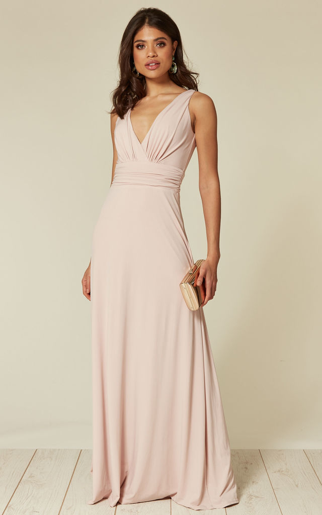 07896a870008 Lana Whipped Peach Maxi Bridesmaid Dress | Revie London | SilkFred