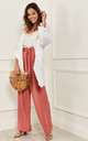 Linen Waterfall Jacket in White by Bella and Blue
