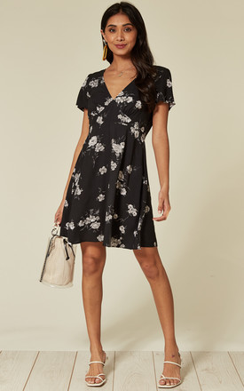 Elara Mini Dress In Black Floral by Motel Product photo