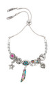 Tangier Friendship Charm Bracelet in Silver by Bibi Bijoux